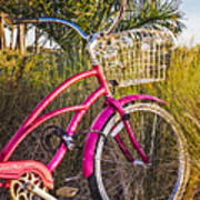 Bicycle At The Beach II Poster