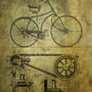 Bicycle Patent From 1890 Poster