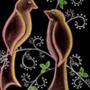 Bird Doodle Poster