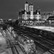 Black And White Fine Art Print Of Union Station In Nashville, Tennessee Poster