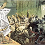 Blaine Cartoon, 1884 Poster