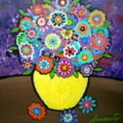 Blooms 6 Poster by Pristine Cartera Turkus