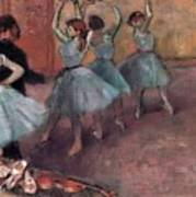 Blue Dancers Poster by Edgar Degas