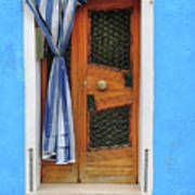 Blue In Burano Poster