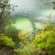Blue Lake Stradbroke Island Poster