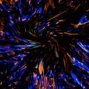 Blue Wormhole Nebula Poster