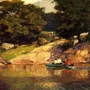Boating In Central Park Edward Henry Potthast Poster