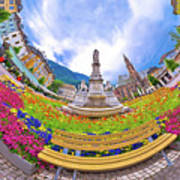 Bolzano Main Square Planet Perspective Panorama Poster