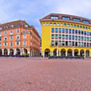 Bolzano Main Square Waltherplatz Panoramic View Poster