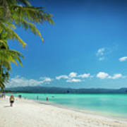 Boracay Island Tropical Coast Landscape In Philippines Poster
