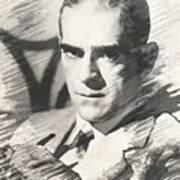 Boris Karloff, Vintage Actor Poster