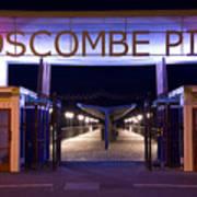 Boscombe Pier At Night Poster