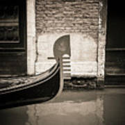 Bow Of A Gondola, Venice, Italy, Europe Poster