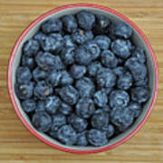 Bowl Of Fresh Blueberries Poster