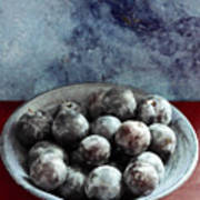 Bowl Of Plums Still Life Poster