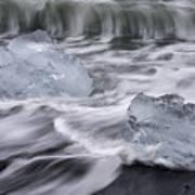 Brethamerkursandur Iceberg Beach Iceland 2588 Poster