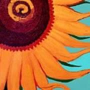 Bright Happy Sunflower Poster