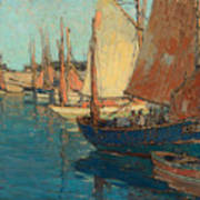 Brittany Boats Poster