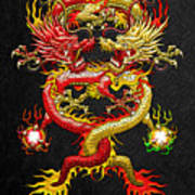 Brotherhood Of The Snake - The Red And The Yellow Dragons Poster