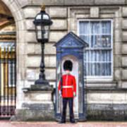 Buckingham Palace Queens Guard Art Poster