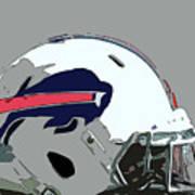 Buffalo Bills Football Team Ball And Typography Poster