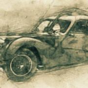 Bugatti Type 57 - Atlantic 3 - 1934 - Automotive Art - Car Posters Poster