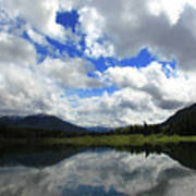 Bull Lake Reflection Poster