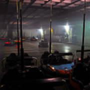 Bumper Cars In Fog Poster