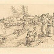 Burial In The Vendeen Marsh (un Enterrement Dans Le Marais Vendeen) Poster
