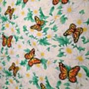 Butterflies And Daisies - 1 Poster