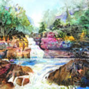 Buttermilk Falls IIi Poster by Patricia Allingham Carlson