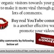 Buy Youtube Comments Poster