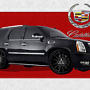 Cadillac Escalade With 3 D Badge  Poster