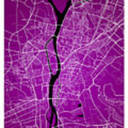Cairo Street Map - Cairo Egypt Road Map Art On Colored Backgroun Poster