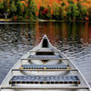 Canoe On A Lake Poster