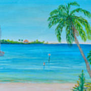 Cape Coral Beach Poster