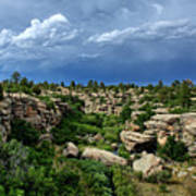 Castlewood Canyon And Rain Poster
