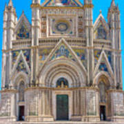 Cathedral Of Orvieto, Duomo Di Orvieto, Umbria, Italy Poster
