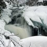 Cattyman Falls In Winter Poster