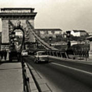 Chain Bridge Of Budapest In 1990 Poster