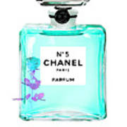 Chanel Perfume Turquoise Chanel Poster Chanel Print Poster