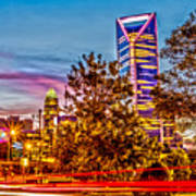 Charlotte City Skyline Early Morning At Sunrise Poster