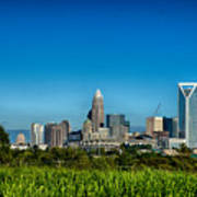Charlotte North Carolina Cityscape Of Downtown Poster