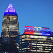 Charlotte North Carolina Skyline City View Poster