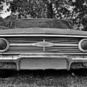Chevrolet Bel Air Black And White 2 Poster