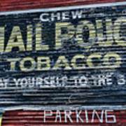 Chew Mail Pouch Tobacco Ad Poster