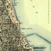 Chicago Old Map Poster