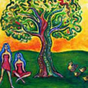 Chicas Y Pollos Poster by Brenda Higginson