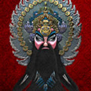 Chinese Masks - Large Masks Series - The Emperor Poster by Serge Averbukh