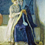 Christ And His Mother Studying The Scriptures Poster